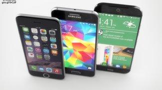 Samsung Galaxy S6 vs. HTC One (M9) vs. iPhone 6: Render-Konzepte im Bildvergleich