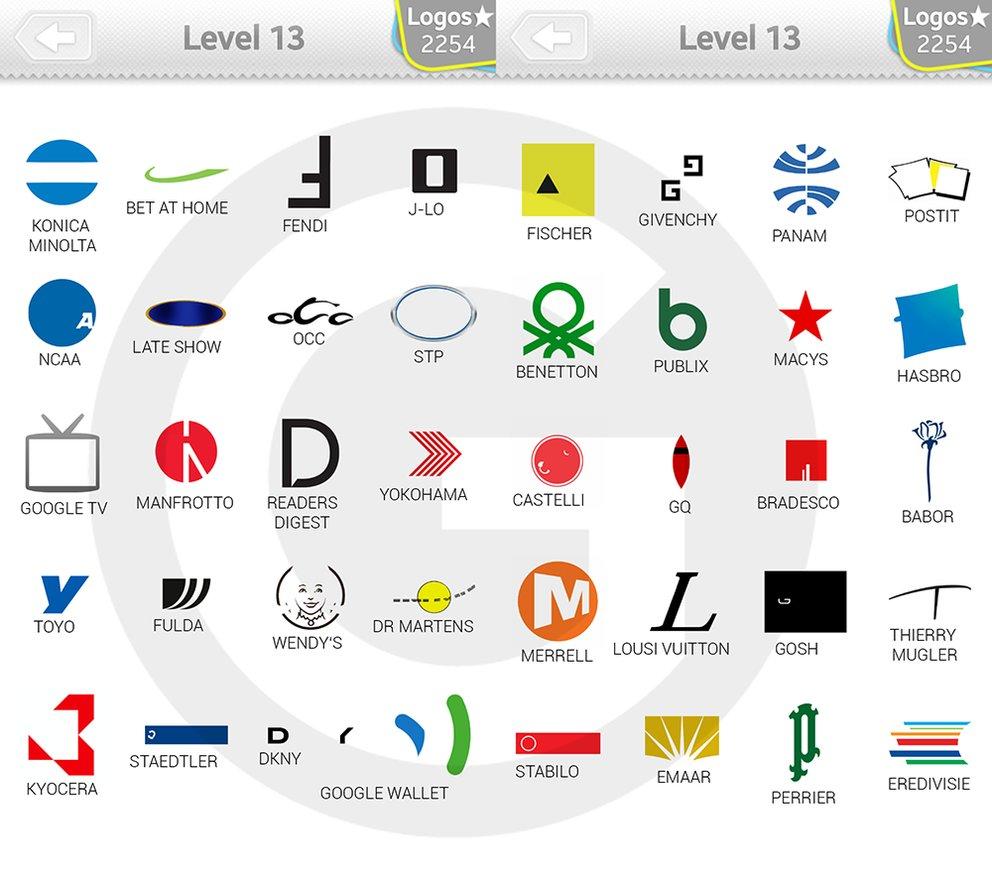 Logo Quiz Extra Levels Lösungen: Expert Level 13 - GIGA