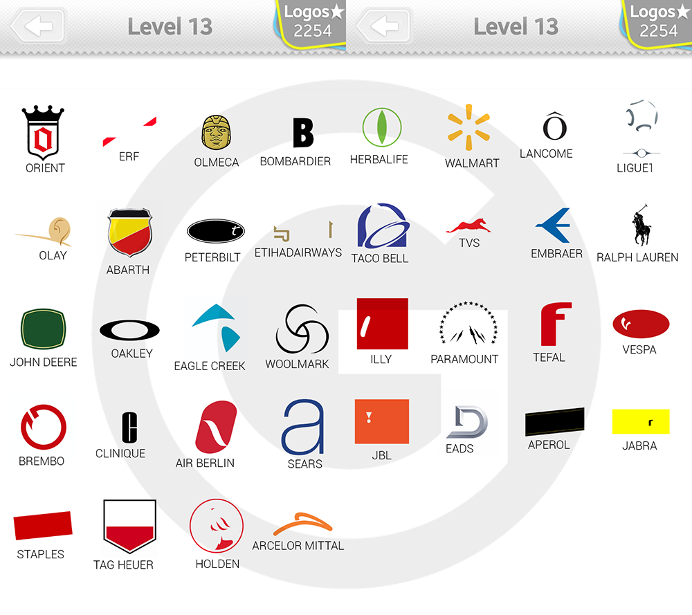 Logo Quiz Extra Levels Lösungen: Expert Level 13