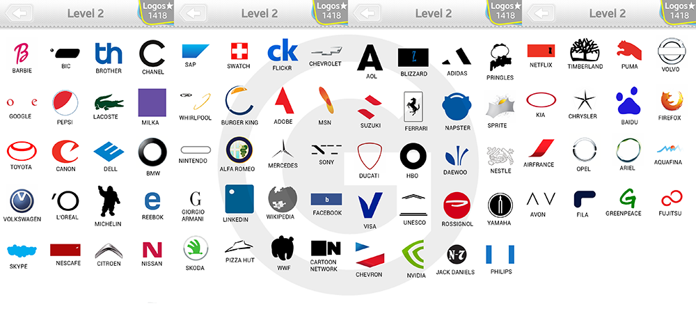 Logo Quiz Extra Levels Lösungen: Expert Level 2