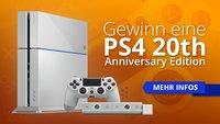 SUPER MEGA SPECIAL: Gewinne eine PS4 in der seltenen 20th Anniversary Edition!