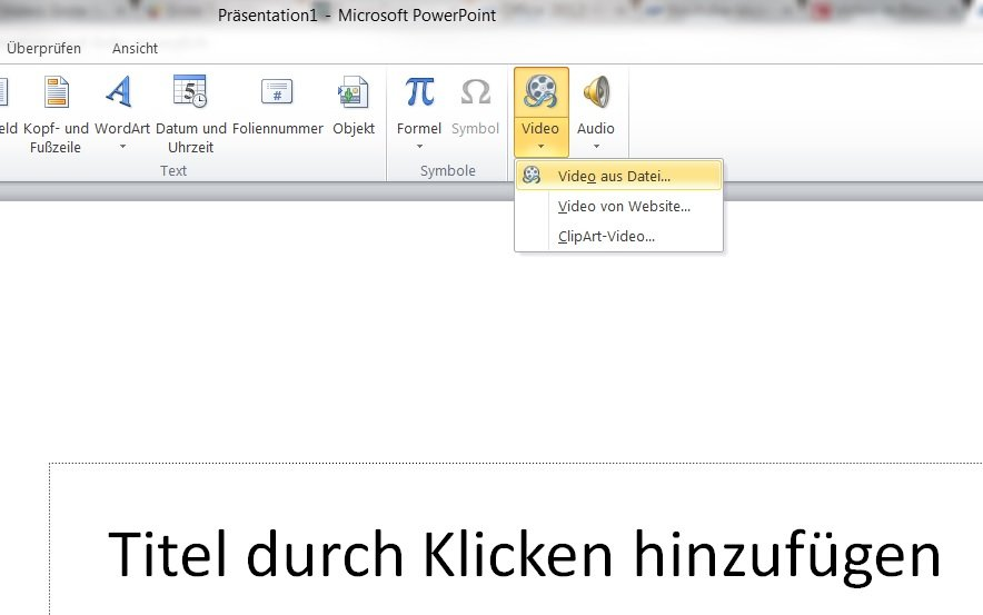 PowerPoint_Video-Einfügen