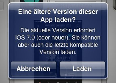 Alte App-Versionen als Download