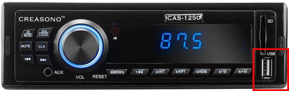 Ein Autoradio mit USB-Anschluss. Bildquelle: Amazon