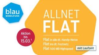 60 Euro mit blau sparen: Allnet-Flat für nur 14,90 Euro/Monat