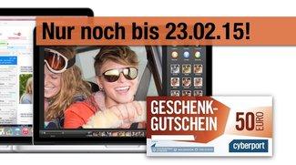 Mac bei Cyberport kaufen: 50-Euro-Einkaufsgutschein geschenkt