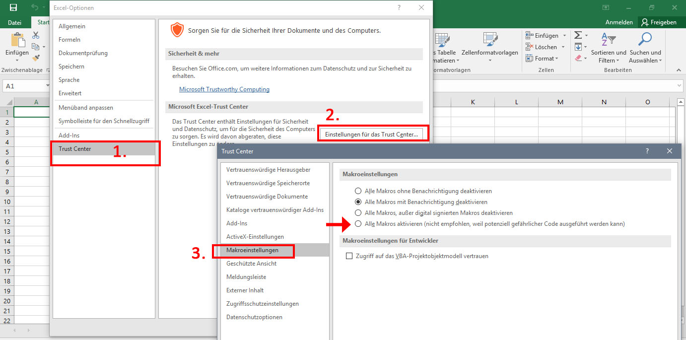 excel 2016 how to show links