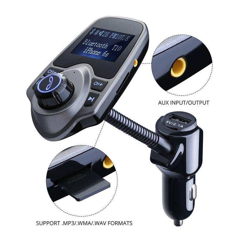 Mit einem FM Transmitter könnt ihr euer Handy auch mit dem Autoradio verbinden.
