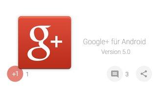 Google+ für Android mit runden Buttons und weiteren Designänderungen im Testlauf