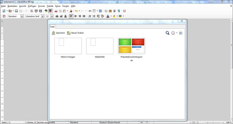 LibreOffice: Vorlagen verwenden – GIGA