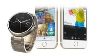 Moto 360 mit Android Wear empfängt erstmals Mitteilung vom iPhone (Video)