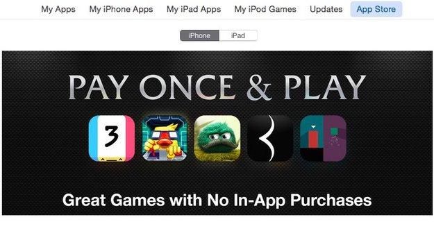 App Store: Apple bewirbt Spiele ohne In-App-Einkäufe