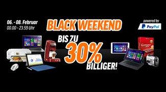 Black Weekend bei notebooksbilliger.de: Bis zu 30 Prozent auf Software und Technik