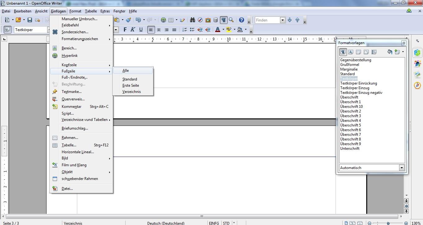 Open Office Seitenzahlen Ab Seite 3 Beginnen Lassen Giga