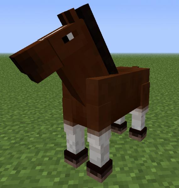 minecraft pferde finden