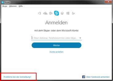 Klickt im Screenshot hier, wenn ihr euer Skype-Passwort vergessen habt.