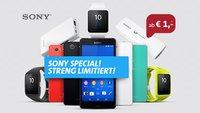 Sony Xperia Z3 Compact, Smartwatch 3, Zubehör, Allnet- und Internet-Flat für 39,95 Euro im Monat