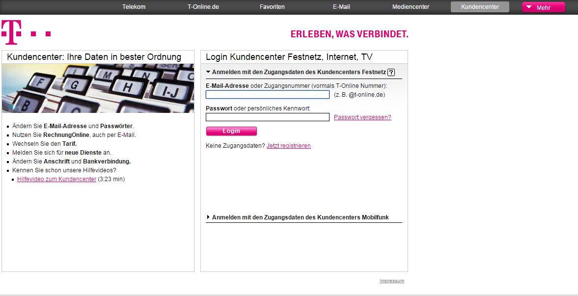 telekom kunden bankverbindung ndern so geht s. Black Bedroom Furniture Sets. Home Design Ideas