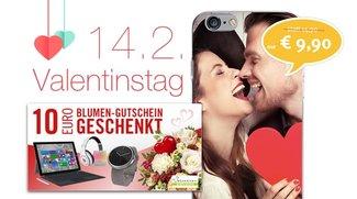 Angebote zum Valentinstag: Foto-iPhone-Hülle günstiger, Gratis Blumengutschein, Blitzangebote und mehr