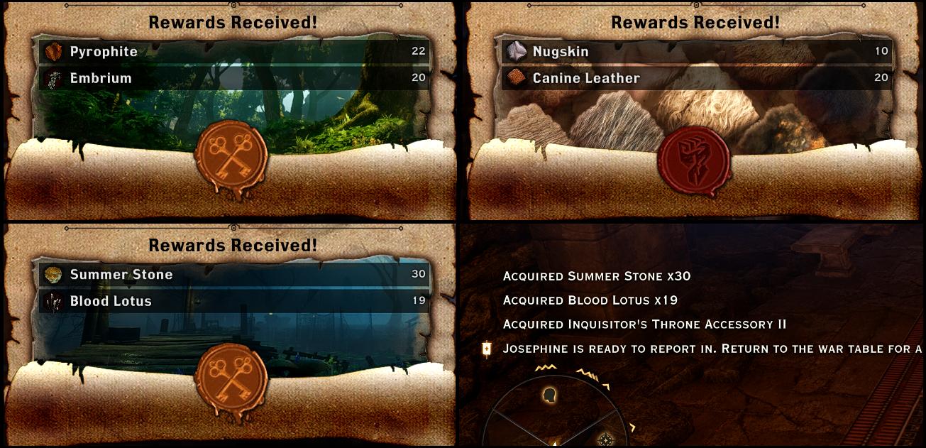 War Table More Materials Mod für Dragon Age: Inquisition -