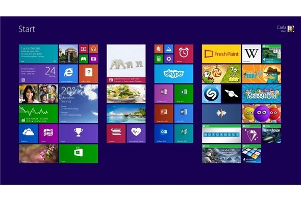 Kann nicht überzeugen: Die Kacheloptik von Windows 8.