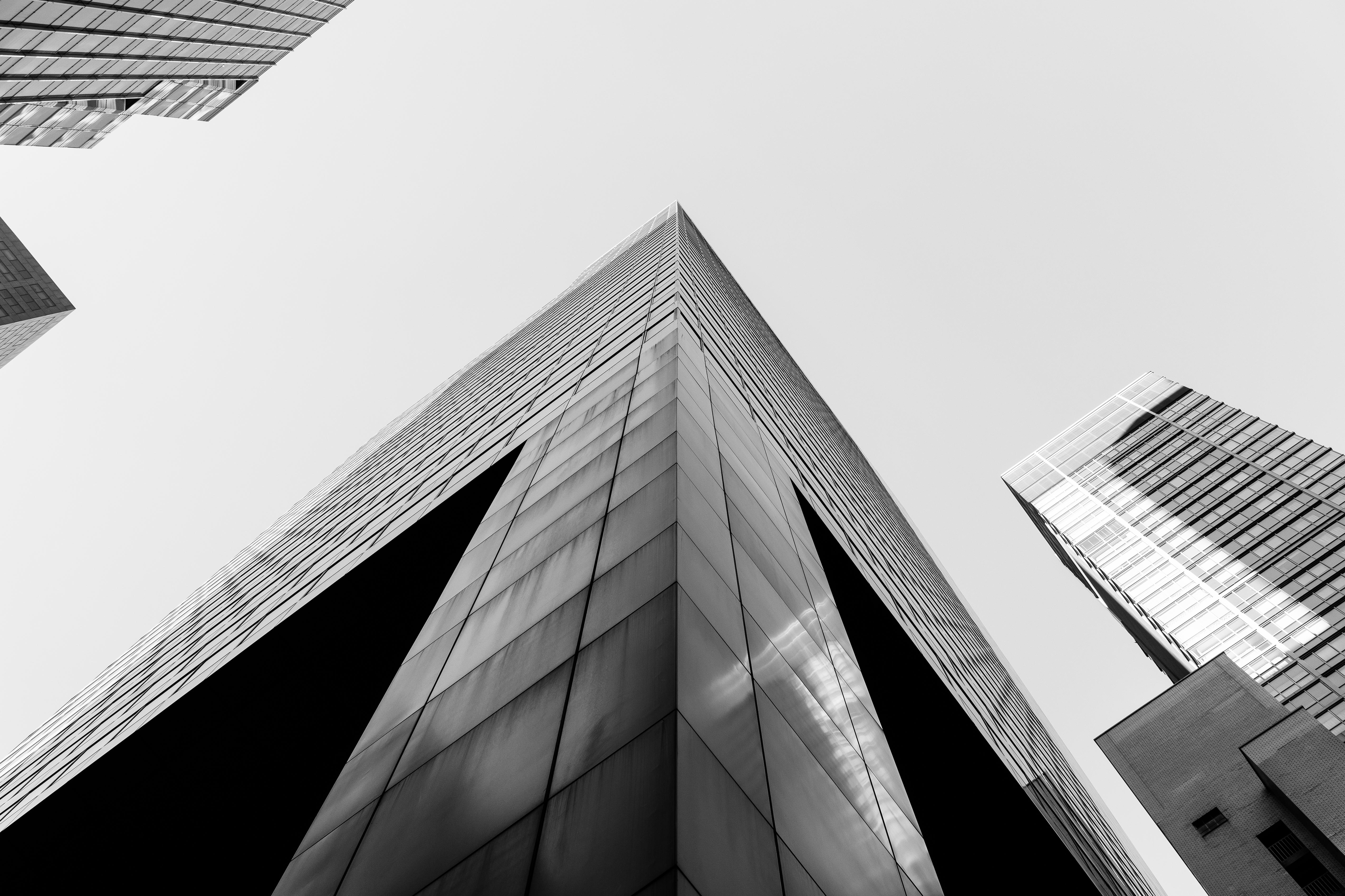 Wallpaper der woche wolkenkratzer in schwarz wei giga - Wallpaper architektur ...