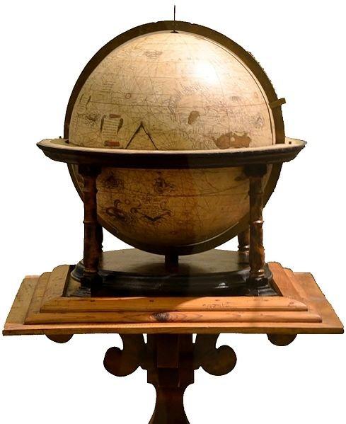Erdglobus von Mercator 1541 signiert (Quelle: Wikipedia)