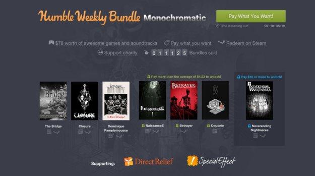 Humble Weekly Bundle: Monochrome Titel im Fokus