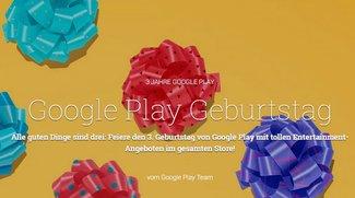 3 Jahre Google Play: Bis zu 90 Prozent auf Apps, Games und weitere Inhalte