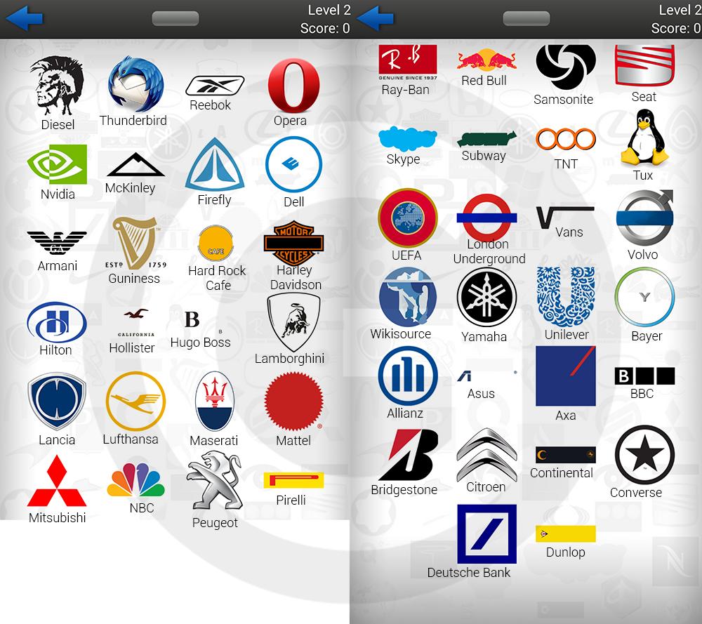 Logo Quiz Lösungen (symblCrowd): Level 2