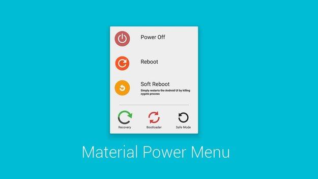 Material Power Menu: Powermenü per Xposed Modul unter Android 5.0 aufgebohrt [Root]