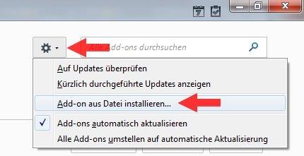 Mozilla Thunderbird Add-ons installieren
