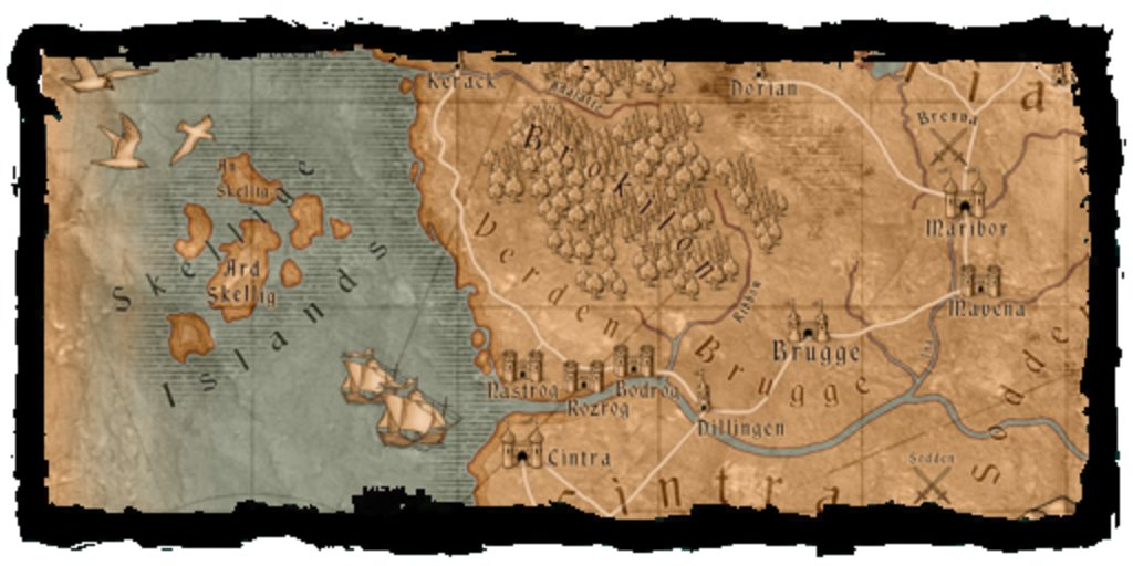 The Witcher 3 - Wild Hunt: Die Karte des Open-World-Rollenspiels
