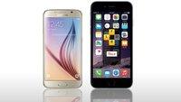 Samsung Galaxy S6 vs. iPhone 6 Plus: Video-Vergleich der Smartphone-Boliden