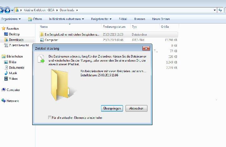 Dateiname Zu Lang