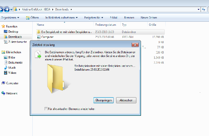 Dateinamen Zu Lang