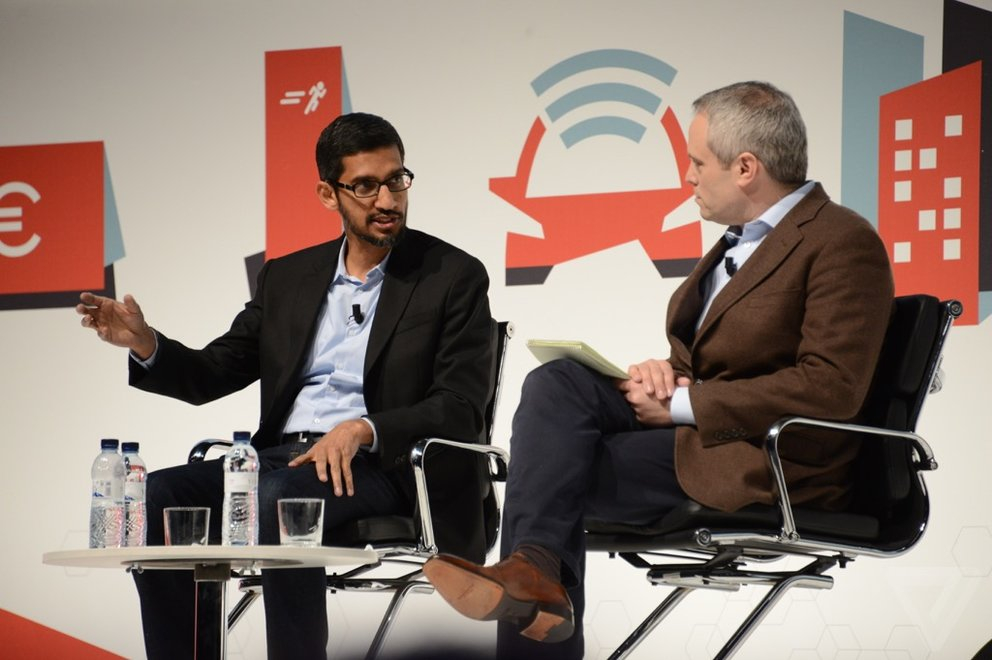 Sundar Pichai auf dem MWC 2015 (Quelle: The Verge)