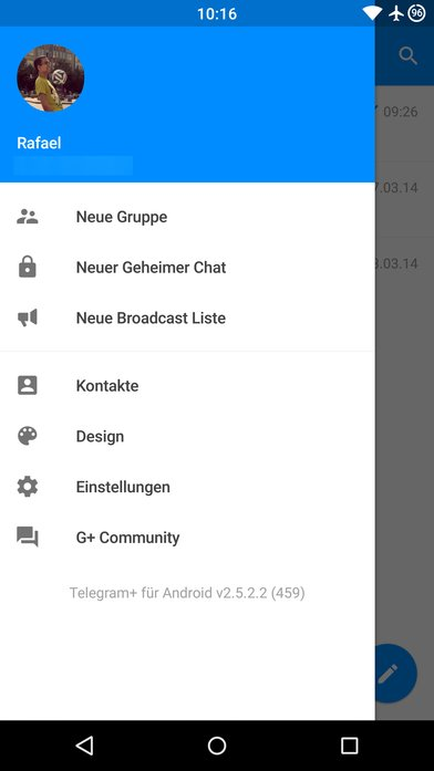 Telegram+-Hamburger