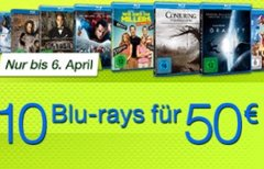 10 Blu-ray-Filme für 50 €...