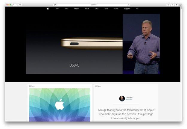 Aufzeichnung des Apple Events als Video verfügbar