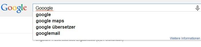 Google Chrome-Rechtschreibvorschläge