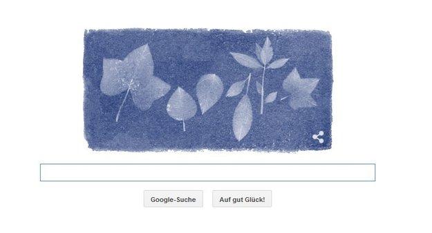 Anna Atkins, die blauen Blätter und das Google-Logo: Was zeigt die Suchmaschine heute am 16. März?