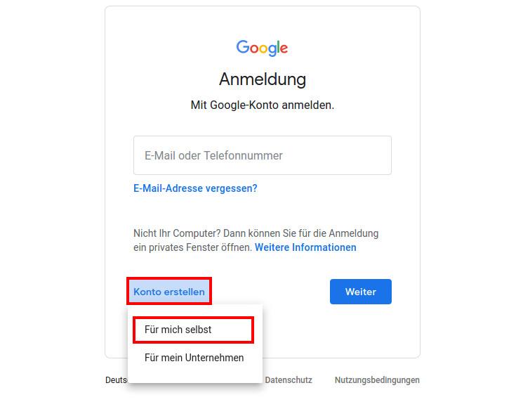 google konto ohne handynummer erstellen