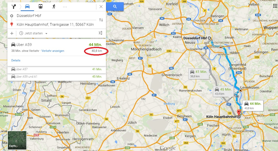 google maps entfernung messen so geht s giga. Black Bedroom Furniture Sets. Home Design Ideas