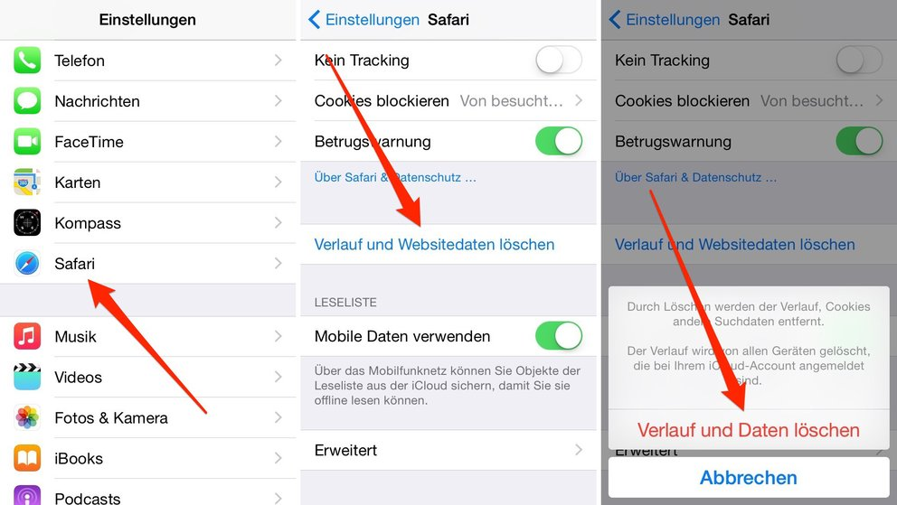 iOS 8.2 Safari-Probleme
