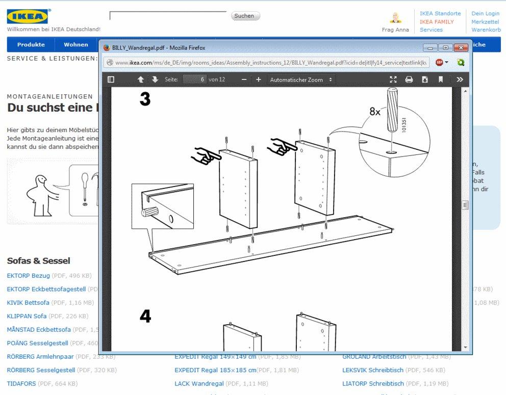 ikea anleitungen online f r schrank tisch und co als. Black Bedroom Furniture Sets. Home Design Ideas