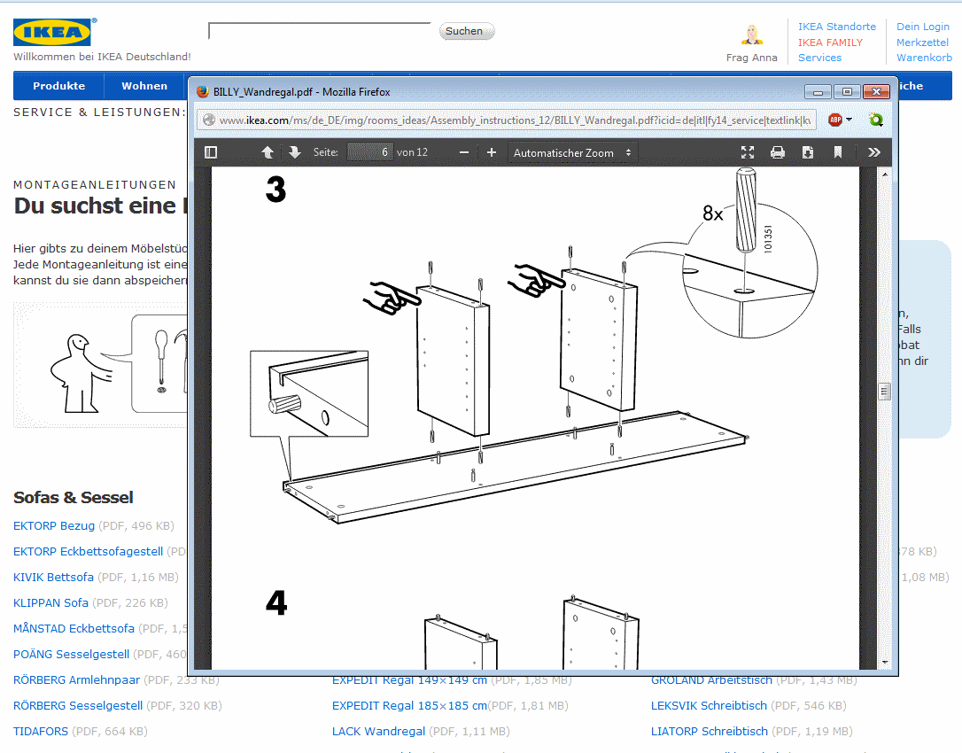 ikea anleitungen online für schrank, tisch und co. als download und