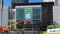 "Apple Event: ""Spring Forward""-Banner am Yerba Buena Center angebracht"