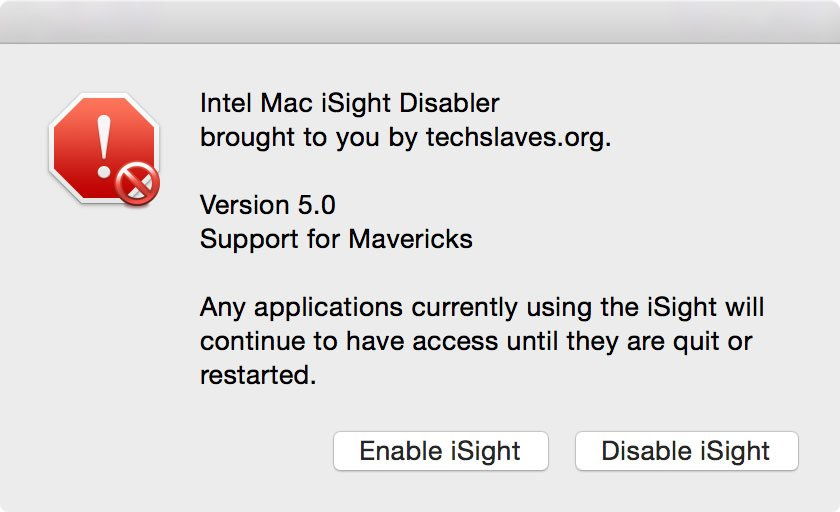 iSight Disabler