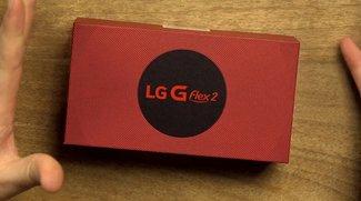 LG G Flex 2: Gebogenes Smartphone im Unboxing- und Hands-On-Video
